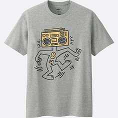MEN SPRZ NY SHORT-SLEEVE GRAPHIC T-SHIRT (KEITH HARING), GRAY, medium