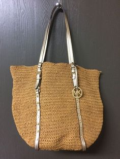 Perfect for summer! Michael Kors Straw Tote