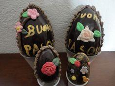 Uova di cioccolato decorate - http://www.food4geek.it/uova-di-cioccolato-decorate/