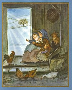 Tasha Tudor Vintage Irene Dash Christmas Card