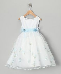 Take a look at this Lida Blue Daisy Dress - Toddler & Girls by Lida on #zulily today!
