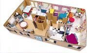Cute dollhouse project for you and your kids or grandkids using materials found around the house.