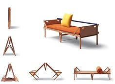 Are you looking for Chaise Longue: Chaise Longue Ospite by Campeggi? Check out the product sheet, prices and where you can buy it on Designbest. Folding Furniture, Folding Beds, Diy Furniture, Furniture Design, Furniture Plans, Nomadic Furniture, Vintage Furniture, Bed Design, Chair Design
