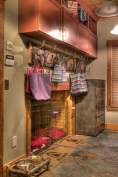 Dog Kennel in the mud room