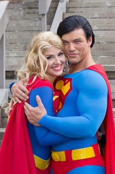 You could put this Superman and Supergirl straight into the movies.