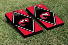 Our Western Kentucky Hilltoppers Cornhole Game Set Diamond Version 2. Get your custom set at victorytailgate.com