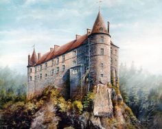 Find high quality medieval 1600 wallpapers and backgrounds on Desktop Nexus. Medieval Music, Medieval Castle, Medieval Fantasy, Medieval Times, Camelot Castle, Chateau Moyen Age, Castle Painting, Small Castles, Legend Of King