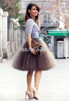 Купить товарНа заказ тюль юбки для женщин пушистые пышная юбка дамы бесплатная доставка в категории Юбкина AliExpress.     Цвет: черный, синий кофе светло-серый черно-зеленый фиолетовый бордовый красный белое шампанское         Размер: Бес