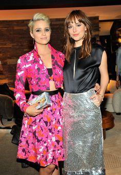 Dianna Agron and Dakota Johnson at the 2014 CFDA/Vogue Fashion Fund Dinner