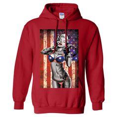 USA Freedom Flag Marilyn Monroe Sweatshirt Hoodie