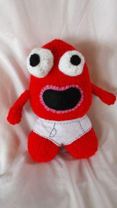 a kookie underwear monster. Monster Hands, Hand Knitting, Dinosaur Stuffed Animal, Underwear, Plush, Toys, Awesome, Character, Animals