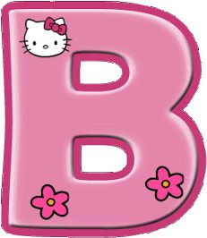 Alfabeto de Hello Kitty con letras grandes. Hello Kitty Rosa, Hello Kitty Imagenes, Classroom Rules Poster, Hello Kitty Themes, Meanie, Hello Kitty Wallpaper, Borders For Paper, Cat Party, Scrapbook Embellishments