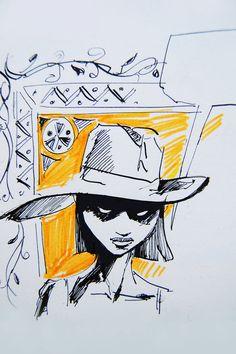 girl with a hat by MatusSzalontai.deviantart.com on @DeviantArt