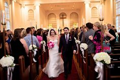 Great shot by Kristen Weaver Photography from Bethany and Brian's ceremony. We were honored to provide the floral for this wedding, from the bouquets to the church to the reception!