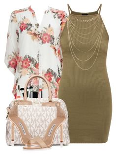 Such a girly. by cocochanelox on Polyvore featuring polyvore fashion style Wallis Wet Seal Manolo Blahnik MICHAEL Michael Kors Moyana Corigan Bare Escentuals Chanel clothing