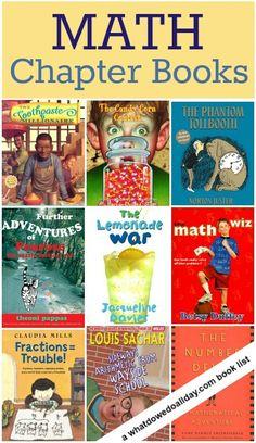 Chapter Books Kids Will Love Math Chapter Books for kids :: these make math fun for math lovers AND kids who are wary of math.Math Chapter Books for kids :: these make math fun for math lovers AND kids who are wary of math. Math Teacher, Math Classroom, Teaching Math, Teaching Ideas, Teacher Stuff, Math Literature, Math Books, Children's Books, Kid Books