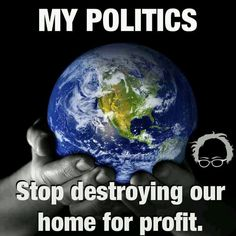 Your profit will be no good to you or your descendants if the world is a total wreck. You definitely can't take your money with you when you die #eco