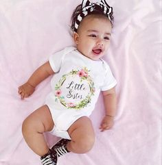 Baby Kid Girl Little Big Sister Clothing Tops Bodysuits Cotton Jumpsuit Outfits Clothes Cute Baby Girls