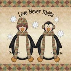 Machine Embroidery Pattern - Penguin Pals