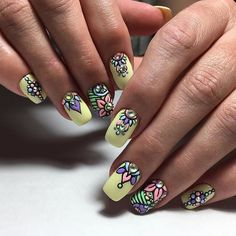 Pretty Nail Art, Beautiful Nail Designs, Pedicure Nail Art, Diy Nails, Spring Nails, Summer Nails, Flower Nails, Finger, Nails Inspiration