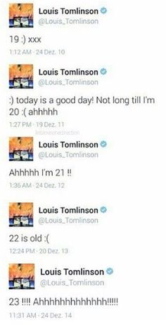Louis's birthday tweets