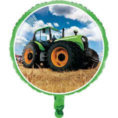 "TRACTOR TIME 18"" Foil BALLOON Birthday Party Supplies Decorations Decor"