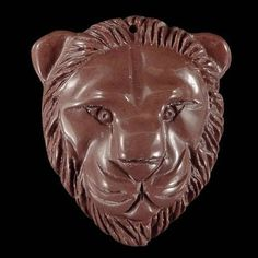 BG12110# Natural Hand Carved Lion Head Succor Creek Jasper  Bead Pendant #Handmade #Pendant
