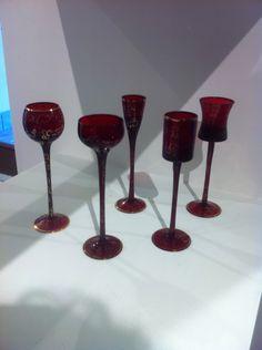 Antichi bicchieri in vetro di Murano