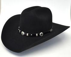 7352f06d3a046 Larry Mahan 3X Oplin Wool Felt Western Hat-Black