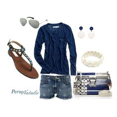 Navy stars, created by natalie-buscemi-hindman on Polyvore