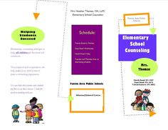 Free Elementary Counseling Brochure - The Helpful Counselor | The Helpful Counselor