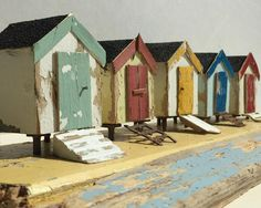 Kirsty Elson Designs added a new photo. Driftwood Projects, Driftwood Art, Diy Projects, Project Ideas, Kirsty Elson, Bird Houses Diy, Wooden Houses, R White, Beach Scenes