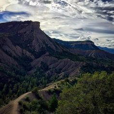 """Durango offers great """"in-town"""" hikes. You can access Hogsback mountain (seen here) or Perin's Peak (the highest peak shown here) for amazing views of Durango."""