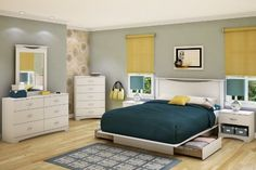 Classy Queen Bed with Storage Drawers. Make your bed one of the best places on Earth because you are likely to find yourself in it most of the time.