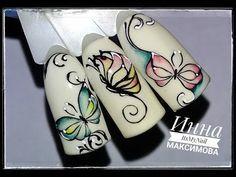 (219) ❤ ОСЕННИЙ дизайн ❤ БАБОЧКИ на ногтях ❤ Дизайн ногтей гель лаком ❤ Nail Design Shellac ❤ - YouTube