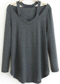 e69ceeb102 T-shirt épaules dénudées Manches Longues, Chemise, Fringues, Mode Tendance,  Mode