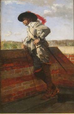 On a Terrace - Ernest Meissonier