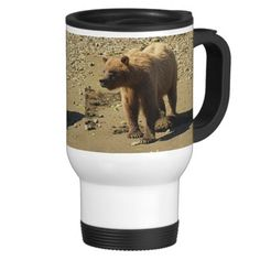 Walking Wild Grizzly Bear Wildlife Photo 2 Travel and Coffee Mugs