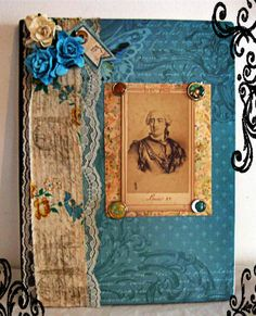 love the colour of this book  OOAK Neo Victorian King Louis Journal French by MoonspellCrafts, $9.99