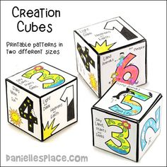 Creation Crafts and Activities for Sunday School Creation Preschool Craft, Gods Creation Crafts, Creation Bible Lessons, Creation Activities, Preschool Bible, Bible Lessons For Kids, Bible Activities, Preschool Crafts, Bible Story Crafts
