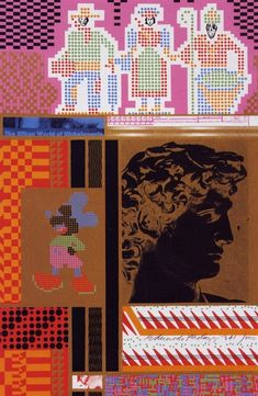 Eduardo Paolozzi, The Silken World of Michelangelo, from the series Moonstrips Empire News, screen print, 1967. From the essay: Eduardo Paolozzi, 20th-century Image-Maker