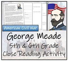 George Meade - & Grade Close Reading Activity - Amped Up Learning Close Reading Activities, Reading Comprehension Activities, Book Activities, Civil War Activities, Christmas Play Scripts, American Civil War, American History, Social Studies Resources, History Classroom