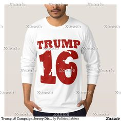 Trump 16 Campaign Jersey Distressed