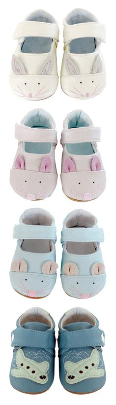 Super Cute Booties with Bunnies, Mice, and Airplanes!
