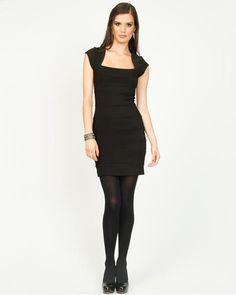 Ottoman Banded Mini Dress  More LBD(little black dresses).