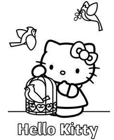 hello+kitty | hello kitty dessin coloriage