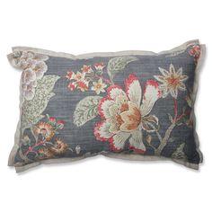 Room with a View Haze Cotton Lumbar Pillow