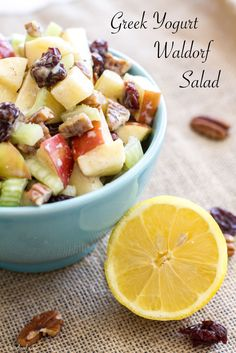Greek Yogurt Waldorf Salad | This spin on the classic Waldorf Salad ...
