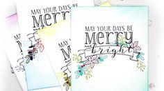 Be Merry Christmas Card Set