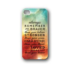 Always remember quotes nebula space - iPhone 4/4S/5/5S/5C, Case - Samsung Galaxy S3/S4/NOTE/Mini, Cover, Accessories,Gift